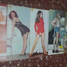 Coleccionismo de Revista Diez Minutos: LOTE 6 POSTERS ERÓTICOS AÑOS 70 REVISTA 10 MINUTOS CARMEN MAURA. Lote 121931855