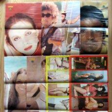 Coleccionismo de Revista Diez Minutos: POSTER REVISTA DIEZ MINUTOS PAULA PATTIER JANE FONDA MONICA RANDALL ANA BELEN BOB DYLAN PERALES. Lote 125872787