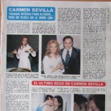 Coleccionismo de Revista Diez Minutos: RECORTE REVISTA DIEZ MINUTOS Nº 1241 1975 CARMEN SEVILLA. Lote 127192167