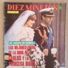 Coleccionismo de Revista Diez Minutos: REVISTA DIEZ MINUTOS AGOSTO 1981. Lote 128416083