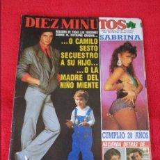 Coleccionismo de Revista Diez Minutos: DIEZ MINUTOS - 1988 - CAMILO SESTO, SABRINA, MARTA SANCHEZ, LYDIA BOSCH, SILVIA MARSO, ROCIO JURADO. Lote 128570679
