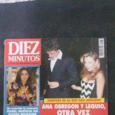 Coleccionismo de Revista Diez Minutos: ISABEL PANTOJA-CARMEN CERVERA-ANA OBREGON-LOS DEL RIO-PALOMA SAN BASILIO-VERONICA BLUME. Lote 128612307