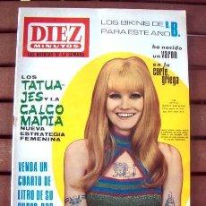 Coleccionismo de Revista Diez Minutos: DIEZ MINUTOS/ JULIE CHRISTIE, NANCY SINATRA, ROCIO DURCAL, CANNES 1967, LAURA ULMER, BRIGITTE BARDOT. Lote 130387318