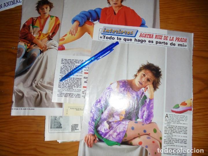 RECORTE PRENSA : ENTREVISTA AGATHA RUIZ DE LA PRADA. DIEZ MINUTOS, FBRERO 1989 (Coleccionismo - Revistas y Periódicos Modernos (a partir de 1.940) - Revista Diez Minutos)