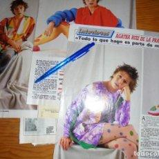 Coleccionismo de Revista Diez Minutos: RECORTE PRENSA : ENTREVISTA AGATHA RUIZ DE LA PRADA. DIEZ MINUTOS, FBRERO 1989. Lote 130562466