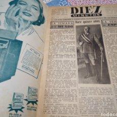 Coleccionismo de Revista Diez Minutos: TOMO DIEZ MINUTOS DEL Nº 2 AL 18 ANTIGUO AÑO 1951. Lote 133382018