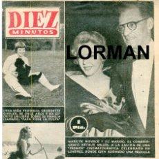 Coleccionismo de Revista Diez Minutos: DIEZ MINUTOS MARILYN MONROE Y ARTHUR MILLER - PRINCESA MARGARITA - Nº271 4 DE NOVIEMBRE DE 1956. Lote 134877778