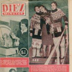Coleccionismo de Revista Diez Minutos: DIEZ MINUTOS RANIERO III DE MONACO SE CASA CON GRACE KELLY. CONTRAPORTADA. (VER) Nº229 15 ENERO 1956. Lote 134958814