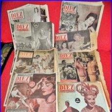 Coleccionismo de Revista Diez Minutos: LOTE DE REVISTAS DIEZ MINUTOS, DE LOS AÑOS 50.. Lote 135104706