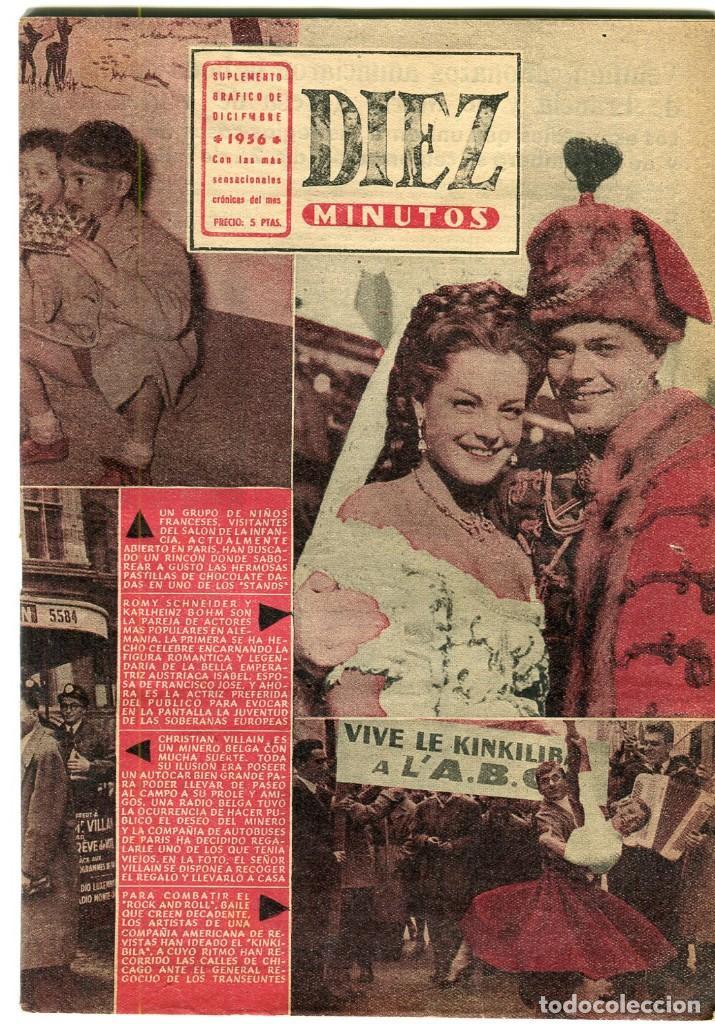 DIEZ MINUTOS-SUPLEMENTO GRAFICO -BRIGITTE BARDOT-SAFARI VICTOR MATURE/JANET LEIGH -MATA-HARI -1956 (Coleccionismo - Revistas y Periódicos Modernos (a partir de 1.940) - Revista Diez Minutos)