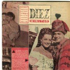 Coleccionismo de Revista Diez Minutos: DIEZ MINUTOS-SUPLEMENTO GRAFICO -BRIGITTE BARDOT-SAFARI VICTOR MATURE/JANET LEIGH -MATA-HARI -1956. Lote 135274150