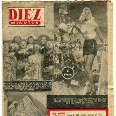 Coleccionismo de Revista Diez Minutos: DIEZ MINUTOS-DIANA. DORS-COTY PERFUMES FRANCIA PLEITO HEREDEROS-REY MIGUEL RUMANIA -N 123 - 3-1-1954. Lote 135301002