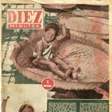 Coleccionismo de Revista Diez Minutos: DIEZ MINUTOS- MARLENE DIETRICH - SALON DEL AUTOMOBIL DE PARIS 1 PAGINA (VER) - Nº165 / 24-10-1954. Lote 135357886
