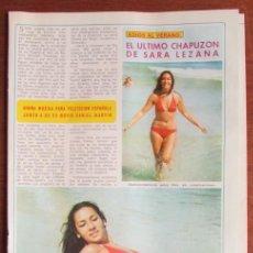 Coleccionismo de Revista Diez Minutos: RECORTE DIEZ MINUTOS 1974 SARA LEZANA. POSTER DE MARCIA BELL. Lote 136590570