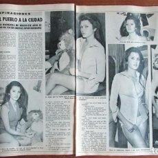 Coleccionismo de Revista Diez Minutos: RECORTE DIEZ MINUTOS 1974 CLARA URBINA. Lote 136591670