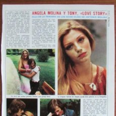 Coleccionismo de Revista Diez Minutos: RECORTE DIEZ MINUTOS 1191 1974 ANGELA MOLINA, TONY ISBERT . Lote 136733478