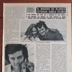 Coleccionismo de Revista Diez Minutos: RECORTE DIEZ MINUTOS 1191 1974 LUIS BASTARRICA, BLANCA ESTRADA. Lote 136733670