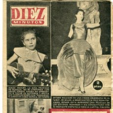 Coleccionismo de Revista Diez Minutos: DIEZ MINUTOS -NINOU DROUET - ESTHER WILLIAMS - VIVIEN LEIGH- ....Nº 311 11 DE AGOSTO DE 1957. Lote 137296402