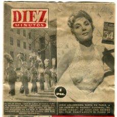 Coleccionismo de Revista Diez Minutos: DIEZ MINUTOS - GINA LOLLOBRIGIDA - AUN HAY MERCADOS DE ESCLAVOS - Nº 114 1 NOVIEMBRE 1953. Lote 137308922