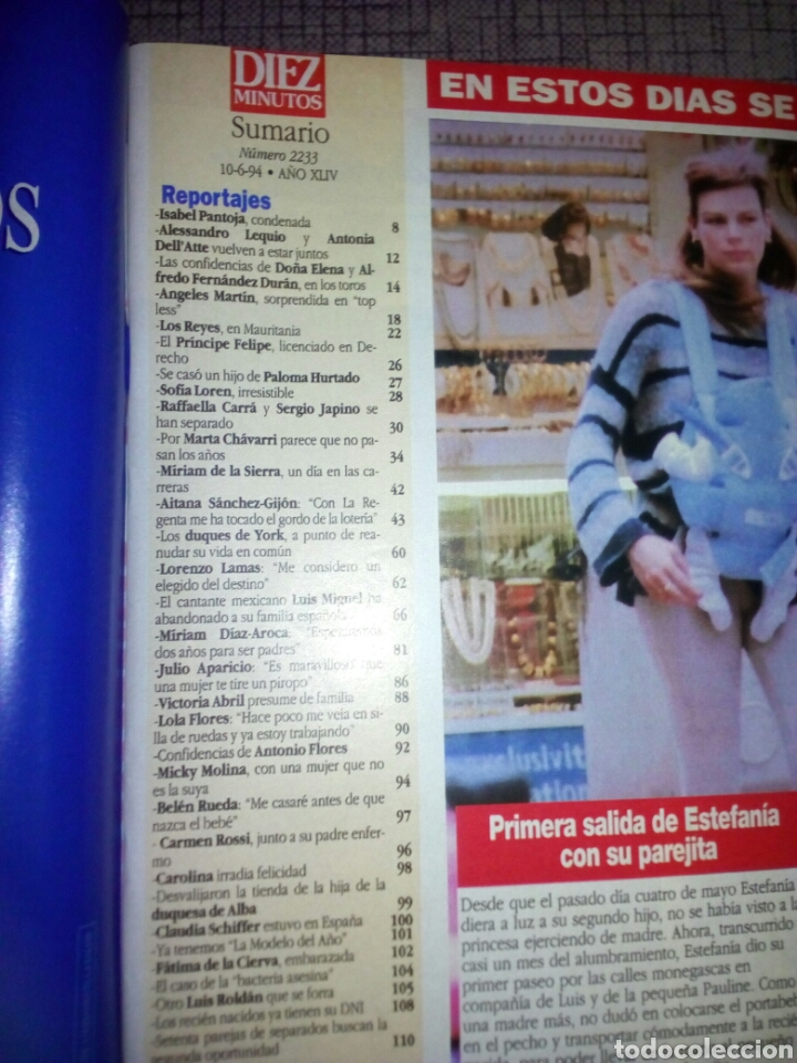 Coleccionismo de Revista Diez Minutos: Revista Diez minutos, junio 1994, número 2233 - Foto 3 - 137324773