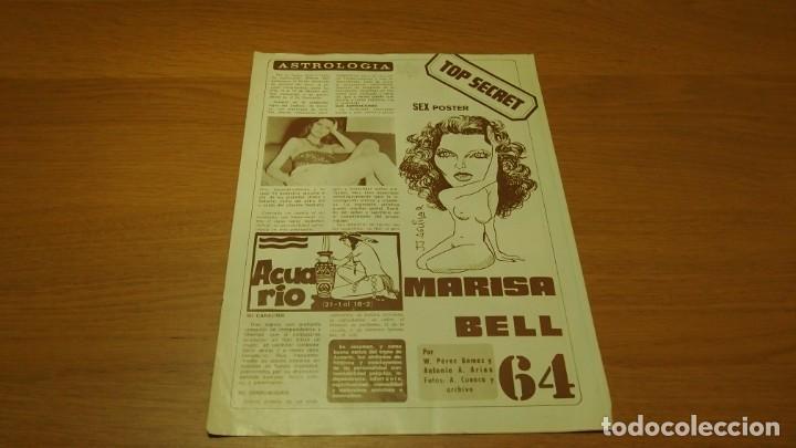 Coleccionismo de Revista Diez Minutos: DIEZ MINUTOS Sex poster Top Secret nº 64 ~ MARISA BELL - Foto 2 - 185966198