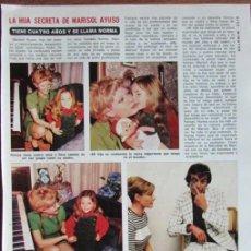 Coleccionismo de Revista Diez Minutos: RECORTE DIEZ MINUTOS MARISOL AYUSO. Lote 139381366