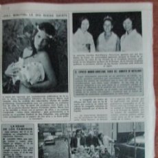 Coleccionismo de Revista Diez Minutos: RECORTE DIEZ MINUTOS Nº 1204 1974. MARIA JOSE CANTUDO. CAROLINA RUIZ-MATEOS. THE BEDWINNERS. Lote 139841086