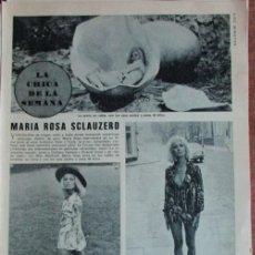 Coleccionismo de Revista Diez Minutos: RECORTE DIEZ MINUTOS Nº 1204 1974. MARIA ROSA SCLAUZERO, BARONES DE PINOPAR, DUQUES DE CADIZ. Lote 139913530