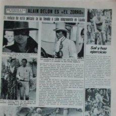 Coleccionismo de Revista Diez Minutos: RECORTE DIEZ MINUTOS Nº 1204 1974. ALAIN DELON. Lote 139913554