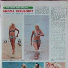 Coleccionismo de Revista Diez Minutos: RECORTE DIEZ MINUTOS Nº 1204 1974. TORERA ANGELA HERNANDEZ. Lote 139913626