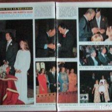 Coleccionismo de Revista Diez Minutos: RECORTE DIEZ MINUTOS Nº 1204 1974. BODA PRINCIPE TCHKCOTOULA Y MARIETA SALAS. DUQUES DE CADIZ, 5 PGS. Lote 139913742