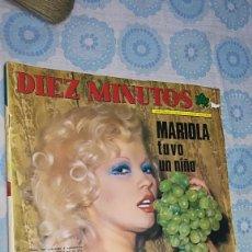 Coleccionismo de Revista Diez Minutos: DIEZ MINUTOS Nº 1218 (28/12/1974) ROSA MORENO BARBARA BOUCHET ANDRES PAJARES HERMANOS CALATRAVA. Lote 140627814