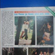 Coleccionismo de Revista Diez Minutos: RECORTE REPORTAJE CLIPPING DE LOS PECOS JAVIER PEDRO PAQUI REVISTA DIEZ MINUTOS Nº 1454 PÁG 43-44. Lote 140768558
