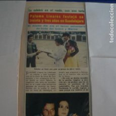 Coleccionismo de Revista Diez Minutos: RECORTE REPORTAJE CLIPPING DE PALOMO LINARES REVISTA DIEZ MINUTOS Nº 1501 PÁG 31-32. Lote 141228898
