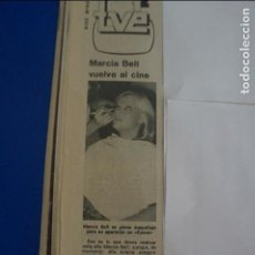 Coleccionismo de Revista Diez Minutos: RECORTE REPORTAJE CLIPPING DE MARCIA BELL REVISTA DIEZ MINUTOS Nº 1512 PÁG 88. Lote 141240998