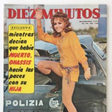Coleccionismo de Revista Diez Minutos: REVISTA DIEZ MINUTOS Nº 1058 - 04/12/71 – MONSERRAT CABALLÉ DIO A LUZ A UNA NIÑA. Lote 141553730