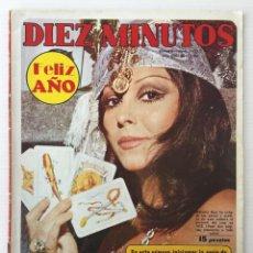 Coleccionismo de Revista Diez Minutos: REVISTA DIEZ MINUTOS Nº 1062 - 01/01/1972 – MARUJITA DÍAZ - FELIZ AÑO. Lote 141650730