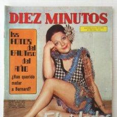 Coleccionismo de Revista Diez Minutos: REVISTA DIEZ MINUTOS Nº 1114 - 30/12/1972 – BAUTIZO DEL BISNIETO DEL CAUDILLO. Lote 141823682