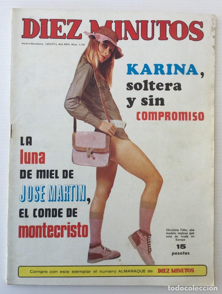 REVISTA DIEZ MINUTOS Nº 1116 - 13/01/1973 – KARINA - ESTHEL ROJO (Coleccionismo - Revistas y Periódicos Modernos (a partir de 1.940) - Revista Diez Minutos)