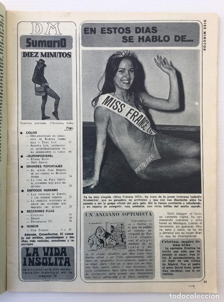 Coleccionismo de Revista Diez Minutos: Revista Diez Minutos nº 1116 - 13/01/1973 – Karina - Esthel Rojo - Foto 5 - 141848450