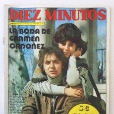 Coleccionismo de Revista Diez Minutos: REVISTA DIEZ MINUTOS Nº 1122 - 24/02/1973 – BODA DE CARMEN ORDOÑEZ – MARY PAZ PONDAL SE CASA. Lote 141898622