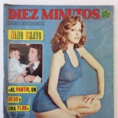 """Coleccionismo de Revista Diez Minutos: REVISTA DIEZ MINUTOS Nº 1131 - 28/04/1973 – NINO BRAVO, """"AL PARTIR, UN BESO Y UNA FLOR"""". Lote 144671228"""
