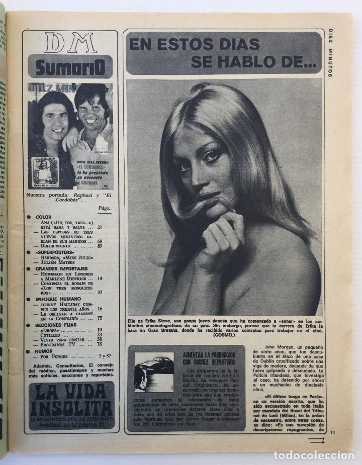 Coleccionismo de Revista Diez Minutos: Revista Diez Minutos nº 1140 - 30/06/1973 – Raphael y El Cordobés - Foto 6 - 142038222
