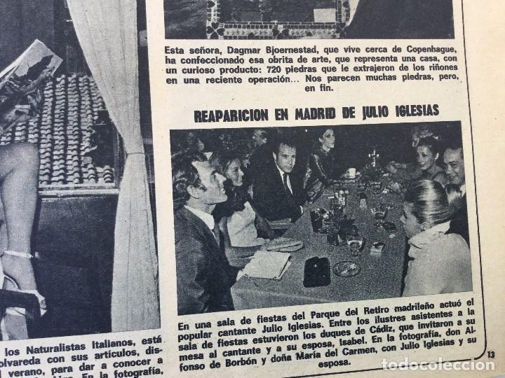 Coleccionismo de Revista Diez Minutos: Revista Diez Minutos nº 1140 - 30/06/1973 – Raphael y El Cordobés - Foto 8 - 142038222