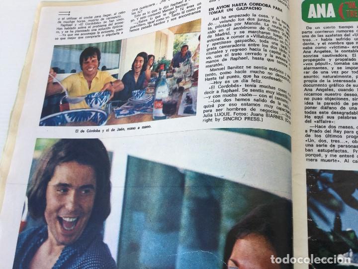 Coleccionismo de Revista Diez Minutos: Revista Diez Minutos nº 1140 - 30/06/1973 – Raphael y El Cordobés - Foto 12 - 142038222