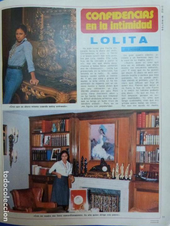 RECORTE REPORTAJE CLIPPING DE LOLITA FLORES REVISTA DIEZ MINUTOS Nº 1265 PAG 51-53 (Coleccionismo - Revistas y Periódicos Modernos (a partir de 1.940) - Revista Diez Minutos)