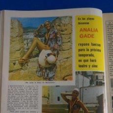 Coleccionismo de Revista Diez Minutos: RECORTE REPORTAJE CLIPPING DE ANALIA GADE REVISTA DIEZ MINUTOS Nº 1100 PAG 26. Lote 142727106