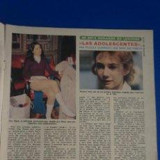 Coleccionismo de Revista Diez Minutos: RECORTE REPORTAJE CLIPPING DE KOO STARK VICTORIA VERA REVISTA DIEZ MINUTOS Nº 1236 PAG 5. Lote 142731858