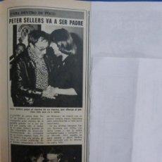 Coleccionismo de Revista Diez Minutos: RECORTE REPORTAJE DE CLIPPING DE PETER SELLERS REVISTA DIEZ MINUTOS Nº 1259 PAG 73. Lote 143197330