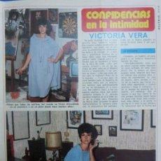 Coleccionismo de Revista Diez Minutos: RECORTE REPORTAJE DE CLIPPING DE VICTORIA VERA REVISTA DIEZ MINUTOS Nº 1264 PAG 47-48,51-52. Lote 143203534